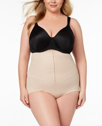 Miraclesuit Extra Firm Tummy Control Inches Off Waist Cinching High Waist Brief 2724 Nude Nude 01