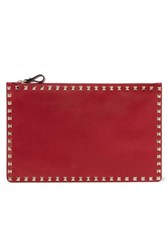 Valentino Garavani The Rockstud Textured Leather Pouch One Size
