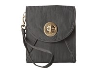 Baggallini Gold Athens Rfid Crossbody Wallet Charcoal Cross Body Handbags Gray