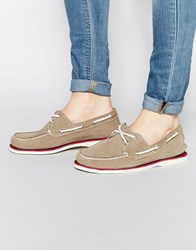 Timberland Classic Leather Boat Shoes Gray