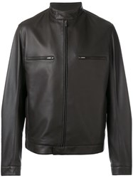 Loro Piana Biker Jacket Brown