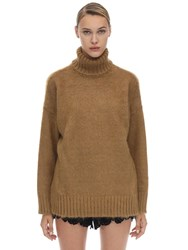 N 21 Oversized Mohair And Wool Turtleneck Camel