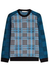 Mary Katrantzou Merino Wool Pullover Blue
