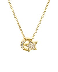 Aqua Sterling Silver Moon And Star Pendant Necklace 15 100 Exclusive Gold