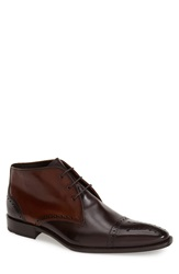 Lloyd 'Paltos' Medallion Toe Boot Men Open Brown