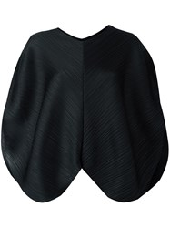Issey Miyake Pleats Please By Pleated Loose Fit Blouse Black