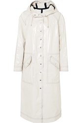 Alexachung Hooded Coated Cotton Blend Trench Coat Cream Gbp