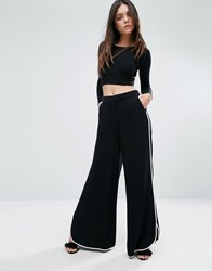 Warehouse Contrast Piping Wide Leg Trouser Multi