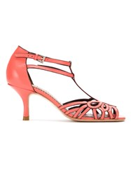 Sarah Chofakian Strappy Pumps Pink And Purple