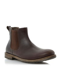 Howick Craft Cleated Sole Elasticated Chelsea Boots Brown