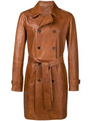 Desa 1972 Belted Double Breasted Coat Brown