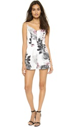 Keepsake None The Wiser Romper Ivory Layered Floral
