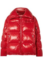 Calvin Klein 205W39nyc Oversized Quilted Coated Shell Jacket Red
