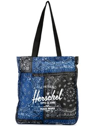 Herschel Supply Co. Logo Print Tote Blue