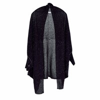 Paychi Guh Cashmere Cocoon Cardigan Black Speckle