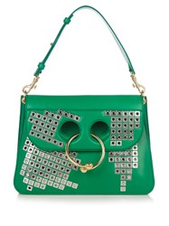J.W.Anderson Pierce Medium Embellished Leather Shoulder Bag Green