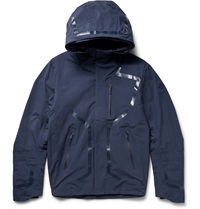 Descente Hooded Waterproof Shell Jacket Blue