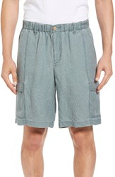 Tommy Bahama Men's Big And Tall Linen The Dream Cargo Lounger Shorts Pacific Storm