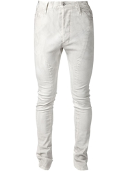 Julius Panelled Skinny Jeans White