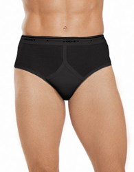 Jockey 4 Pack Stay New Classic Low Rise Briefs Black