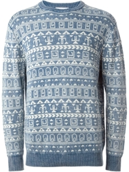 Soulland Intarsia Sweater Blue