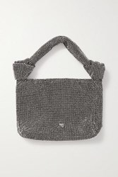Alexander Wang Wangloc Knotted Crystal Embellished Mesh Tote Black