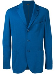 Loro Piana Light Sweater Jacket Blue