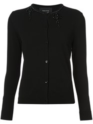 Simone Rocha Embellished Neck Cardigan Black