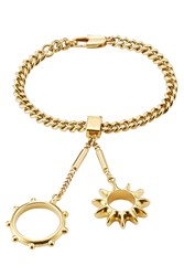 Chloe Bracelet With Rings Attached Gold
