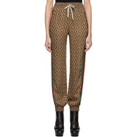 Gucci Brown G Rhombus Lounge Pants