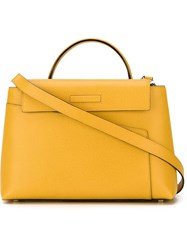 Valextra Structured Tote Yellow And Orange