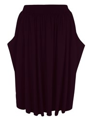 Hotsquash Floaty Fit And Flare Skirt In Thinheat Damson