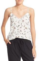 Women's The Kooples Feather Print Silk Camisole