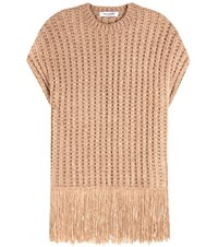 Valentino Knitted Silk Sweater Brown