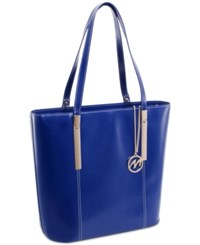 Mcklein Cristina Leather Tote Navy