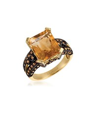 Levian Chocolatier 1.03 Tcw Diamonds Citrine And 14K Yellow Gold Ring