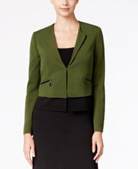 Kasper Cross Dyed Colorblocked Jacket Green Black