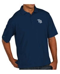 Antigua Men's Short Sleeve Tampa Bay Rays Polo Navy