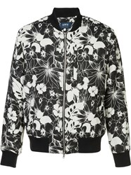 Levi's Made And Crafted Floral Print Bomber Jacket Black