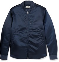 Acne Studios Mylon Shell Bomber Jacket Navy