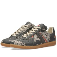 Maison Martin Margiela 22 Replica Low College Print Sneaker Green