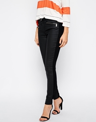 Karen Millen Coated Skinny Jeans Black