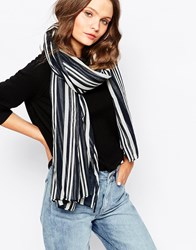 New Look Stripe Scarf Camel