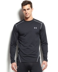 Under Armour Men's Cold Gear Long Sleeve Athletic Crew Neck T Shirt Black Steel
