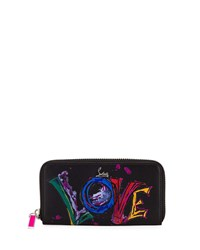 Christian Louboutin Panettone Love Graphic Wallet Black