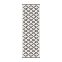 Hibernica Kathmandu Small Diamonds Vinyl Floor Mat Black White Black And White