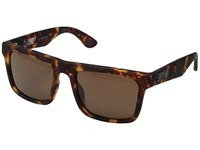 Spy Optic Atlas Soft Matte Camo Tort Happy Bronze Athletic Performance Sport Sunglasses Brown