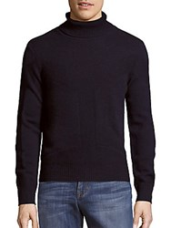 Kent And Curwen Long Sleeve High Neck Sweater Navy