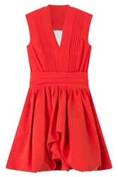 Preen By Thornton Bregazzi Dress With Flared Skirt Red