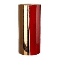 Pols Potten Triple Colour Glazed Vase 33Cm Red White Bronze